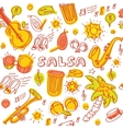 Salsa cuban music and dance with vector image