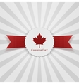 Canada Day greeting realistic Badge vector image