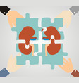 concept of treating kidney kidney composed of vector image