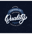 Quality hand written lettering vector image