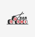 sushi bar logo vector image