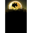 Halloween background with moon vector image