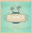 summer holidays on vintage background with clouds vector image vector image