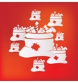 Santa Claus bag with gifts icon vector image