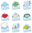funny envelopes vector image vector image