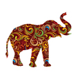 Red Elephant Ornamental vector image vector image