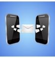 Mail exchange between phones vector image
