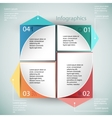 Infographics business template vector image vector image