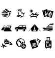 Vacation icons vector image
