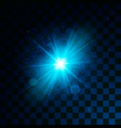 blue glowing light glitter effect on transparent vector image