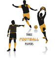 football players silhouettes vector image