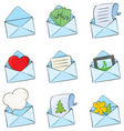funny envelopes vector image