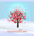 life tree with hearts valentine day card vector image