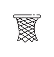 thin line basket ring icon vector image