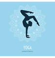 Woman doing yoga asanas vector image
