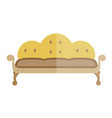 yellow sofa in antique style isolated on white vector image