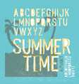 summer time alphabet hand drawn letters summer vector image