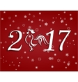 2017 fire rooster Stylized lettering on a red vector image