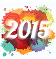 2015 New Year paint splat colorful background vector image