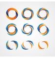 Set of circular creative logos vector image