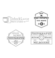 Photographer Badges and Labels in Vintage Style vector image vector image