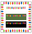 christmas lights frame vector image vector image