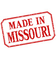 Missouri - made in red vintage isolated label vector image