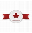 Canada Day greeting red Label vector image