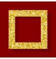 golden figure square frame vector image