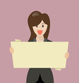 Business woman showing blank board vector image