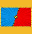 comic book versus battle background vector image