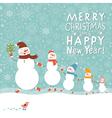 Family of cute snowmen vector image