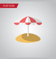 isolated umbrella flat icon parasol vector image