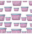laundry basket pattern background vector image