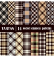 Set Tartan Seamless Pattern in gray and yellow vector image