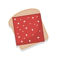 silhouette color bread with ham vector image