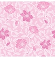 soft pink lineart blossoms seamless pattern vector image