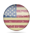 vintage button flag of USA - grunge style vector image