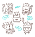 cute cats set 2 vector image vector image