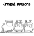 Freight wagons art vector image
