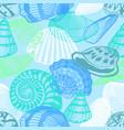 colorful underwater ocean life seamless pattern vector image vector image