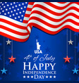 4th of july independence day of america background vector image vector image