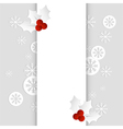 christmas card paper template vertical vector image vector image