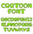 green cartoon font vector image
