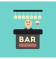 Flat icon on stylish background icon bar bartender vector image
