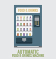 Automatic Food And Drinks Machine vector image