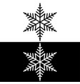 black and white snowflakes vector image