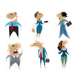 businessmen and businesswomen vector image
