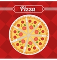 cartoon pizza fast food design design vector image