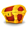 cartoon treasure chest for game ui vector image